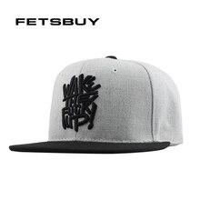 FETSBUY Gorras Planas Hip Hop Cap Snapback Hip Hop Hat Men Basketball Cappelli Hip Hop Metal