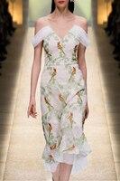 См. оранжевое модное платье с вышивкой, кружевное летнее платье, халат Femme Ete 2018, сексуальное женское платье, Пляжное Платье в стиле бохо SO1231