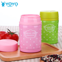 450ml Fashion Hot Food Thermos Insulated Stainless Steel Food Container Soup Box Keep Food Warm Thermos