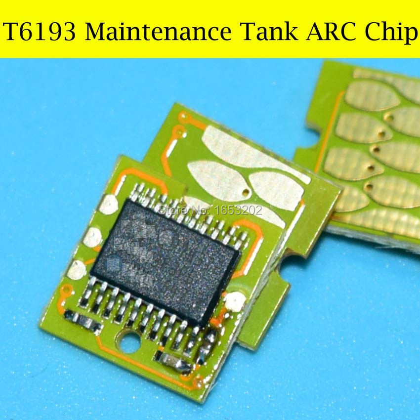 10 PC T6193 ARC Maintenance Tank Chip For EPSON Surecolor F6070 F7070 F7000 F6080 F7080 S30610 S50610 S30600 S50600