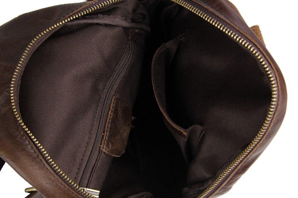 Männer Reise Vintage Zurück Sling Pack Hohe Leder Echtes Körper Tag Brown Qualität Brust Mode Kreuz Rindsleder 1wxPF