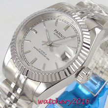 NEW Arrive 26mm parnis White Dial Sapphire Glass Date Steel Case Luxury Brand Miyota Automatic Movement mens Watch