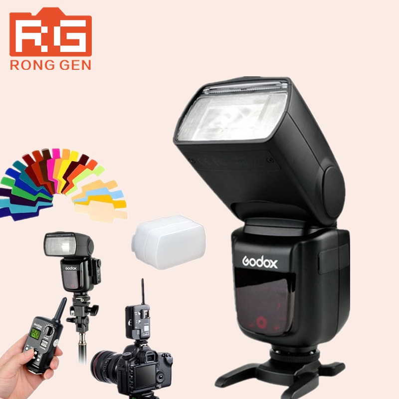 Godox V860C TTL Li-ion Camera Photo Studio Flash Light Speedlite For Canon + Godox FT-16S Flash Trigger Receiver + Transmitter godox v860n new li ion battery flash speedlite ft 16s flash trigger set cells ii wireless transceiver trigger for nikon
