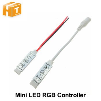 LED RGB kontroler DC12V Mini 3 kluczowy kontroler LED RGB dla listwy RGB LED tanie i dobre opinie Hunta Mini RGB Controller Common anode Kontroler rgb Mini 3 Key Controller ROHS Plastic 12 v LED Strip