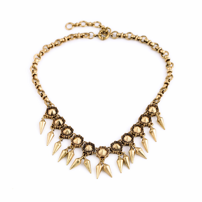 2014 New Arrival Best Seller Jewelry Zinc Alloy Gold Color Unique Chain Design Vintage Noble Collar Necklace