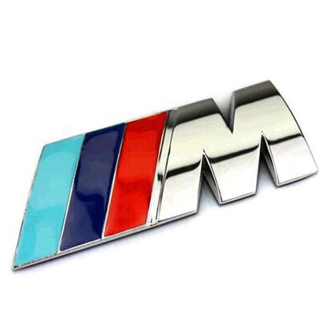 mpower motorsport logo car badge rear trunk emblem decal. Black Bedroom Furniture Sets. Home Design Ideas
