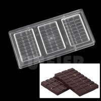 3 Row Lattice Polycarbonate Chocolate Mold DIY Kitchen Tools PC Chocolate Mold Candy Cake Chocolate Making