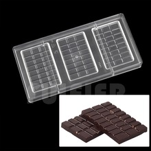 3 row lattice polycarbonate chocolate mold, DIY kitchen tools PC mold candy cake making pastry baking molds