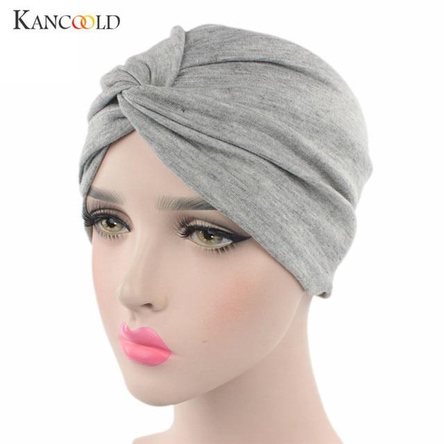 ab87a6cc172 Caps hat female womens beanie turban 2018 beanie womens hats Ladies black  Hat warmer Scarf Turbans beanies Head Wrap Cap NO24D