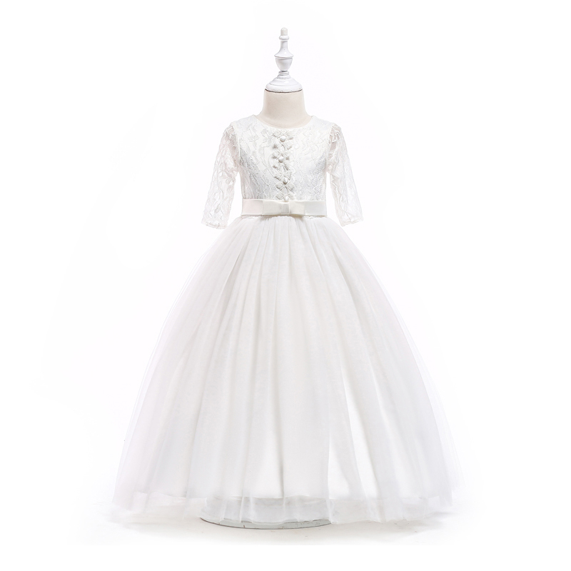 A-line girl dress long children princess party dress 8 10 12 14 16 Years kids teens clothes teenagers lace girls wedding dress free shipping direct heat ps4 stencils 0 4mm 0 55mm solder ball bga reballing stencils