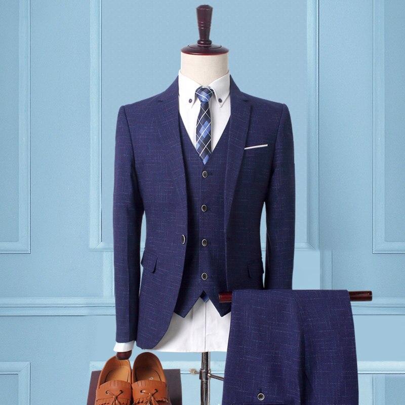 2017 зеленый синий смокинг для жениха Нотч Для мужчин костюмы Бирюзовый жених свадьба ужин best Мужские костюмы (куртка + брюки + галстук + жилет) - 5