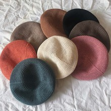 Women Fashion Cap Sweet All-match Cute Concise Retro Solid Color Flat Personality Berets Summer Beach Sport Hats