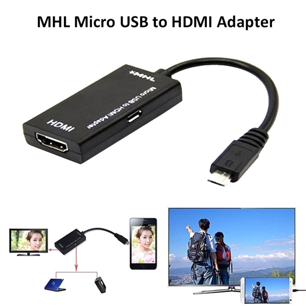 Image 3 - New Micro USB To HDMI TV Out HDTV MHL Adapter Cable Black Durable Adapter Cable For Phone Or Tablet Smart Devices Portable-in Data Cables from Consumer Electronics