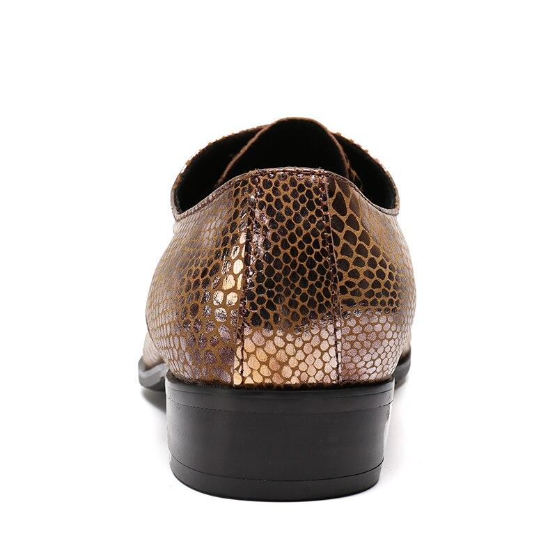 Cuir Sapato Mens As Mariage Véritable Picture De Up Hommes Serpent En Sociale Chaussures Dentelle Classique Italien Costume Luxe Bureau Robe 00nPBSr