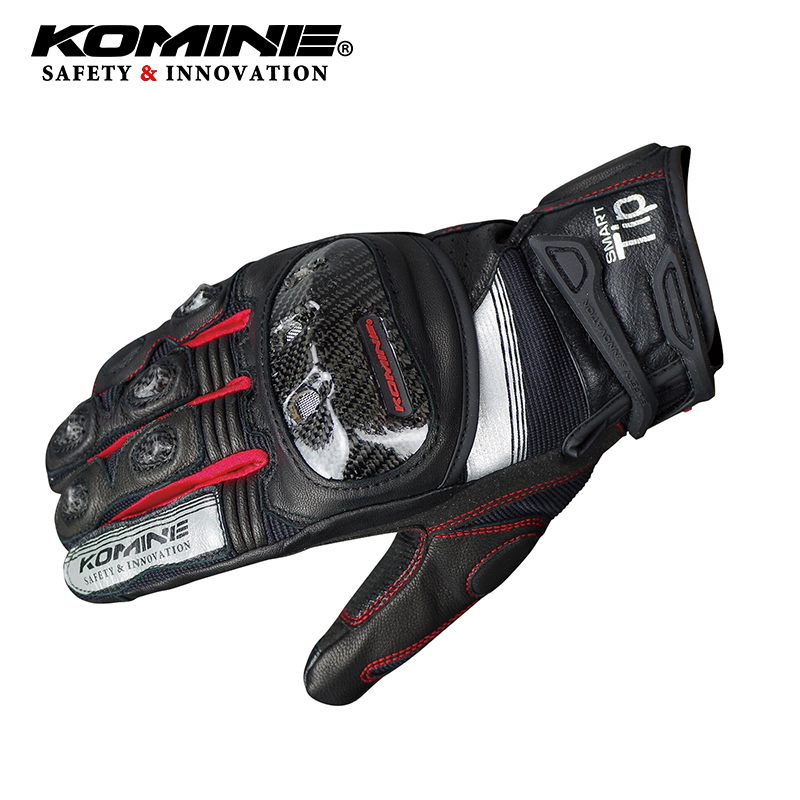 KOMINE GK193 carbon fiber motorcycle gloves leather breathable 3D Knight riding glove dry 3 colors fast shipKOMINE GK193 carbon fiber motorcycle gloves leather breathable 3D Knight riding glove dry 3 colors fast ship
