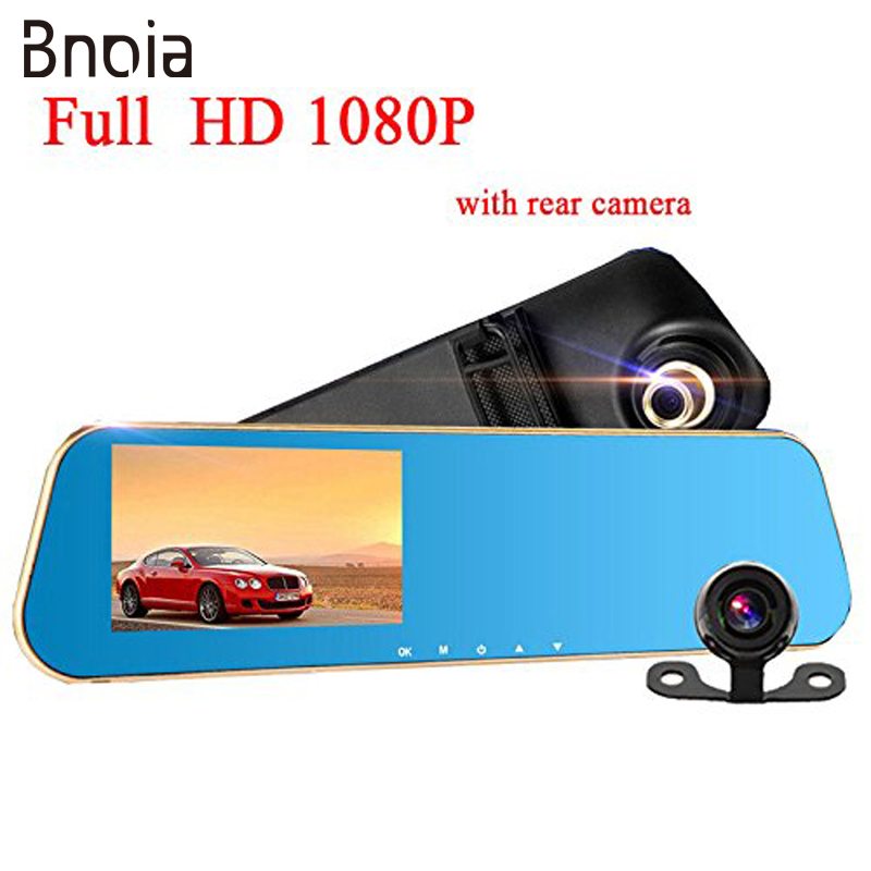 HD 1080P Car Dvrs Rear View Mirror With Dual Lens Camera Night Vision Dash Cam dvr 4.3 Inch Rearview MirrorDigital Video C017Z