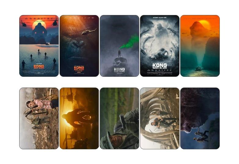 10 pcs/lot Kong: Skull Island Movie Poster Collectible