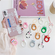 Universal mobile phone rope lanyard Anti-drop Finger Cellphone Ring Strap cute DIY Accessories for airpods case