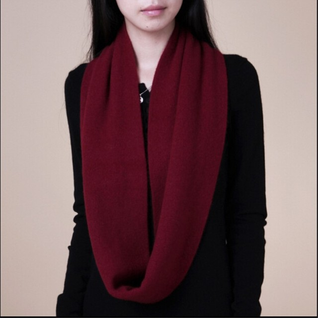 Winter Warm Comfortable Soft Ring Wool Scarf Men And Women Cashmere Shawl Quality Scarfs Solid