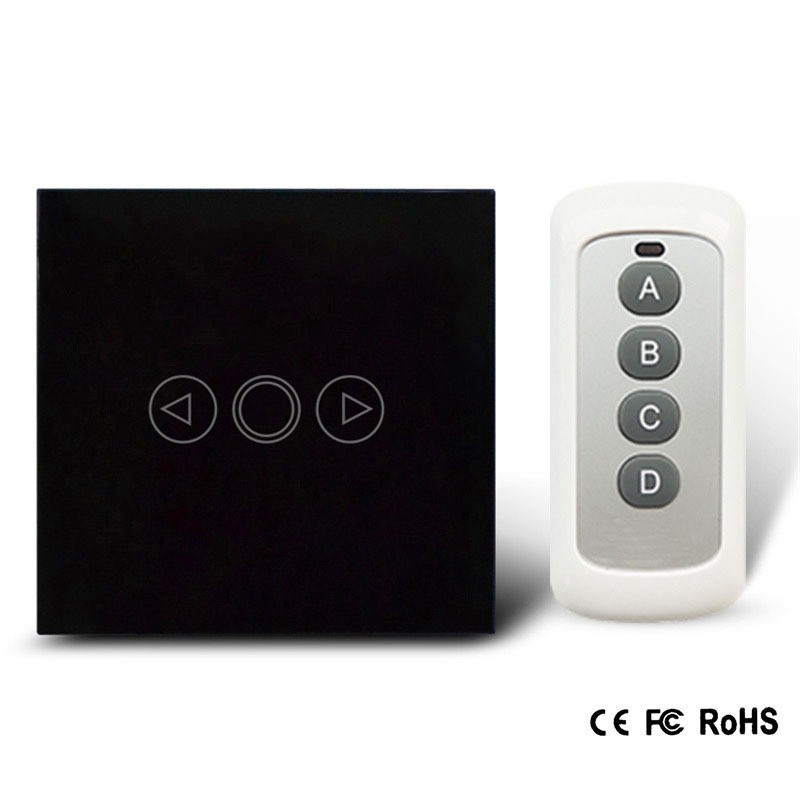 EU-Standard-Wireless-Dimmer-Switch-Touch-Remote-Control-Dimmer-Light-Switch-Crystal-Glass-Panel-with-LED