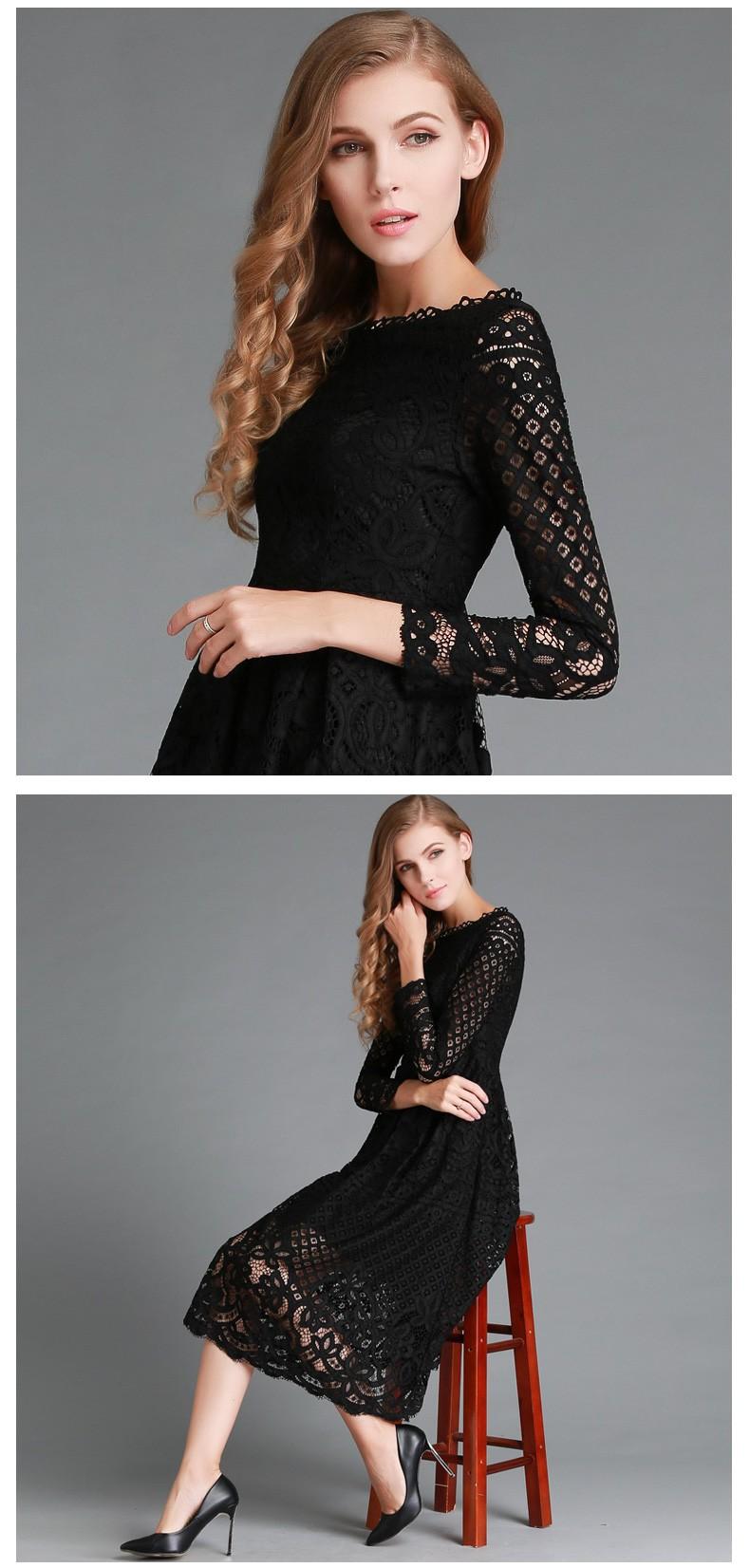 Beauty Long Sleeved Lace Dress 6