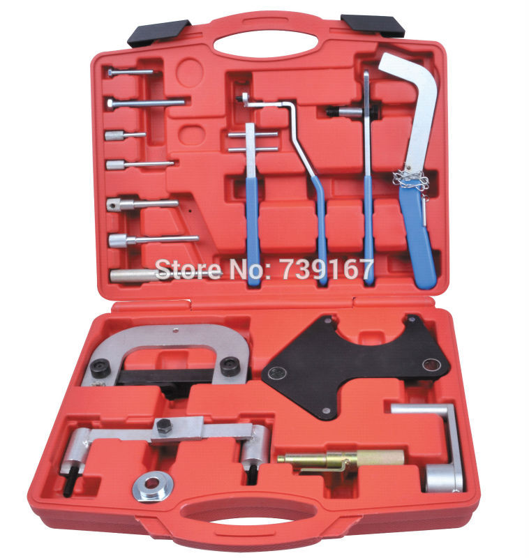 Auto Engine Timing Camshaft Locking Removal Repair Garage Tools For Volvo S40/80 1.6/1.8/1.9/2.0/2.4/2.5/2.8 Renault Opel ST0126 camshaft pulley wrench holder for subaru forester 3pcs set engine timing belt remove and install repair toolkit