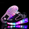 Hot New Child Wheely's Jazzy LED Light Roller Skate Shoes For Kids Girls Boys Glowing Sneakers With Wheels tenis de rodinha