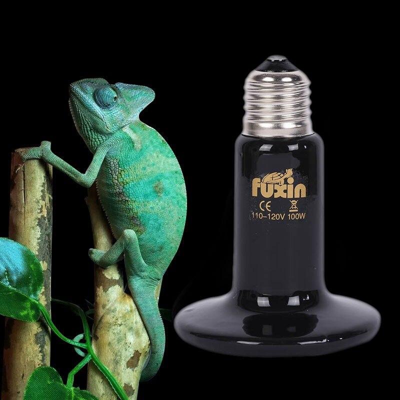 Pet Infrared Emitter Ceramic Heating Lamp E27 Heat Light Bulb Reptile Brooder 75mm 50W/75W/100W/150W 110V/220V 220v 75x90mm 50 150w pet ceramic emitter heated plate appliance reptile poultry heating breeding light bulb for e27 lamp holder