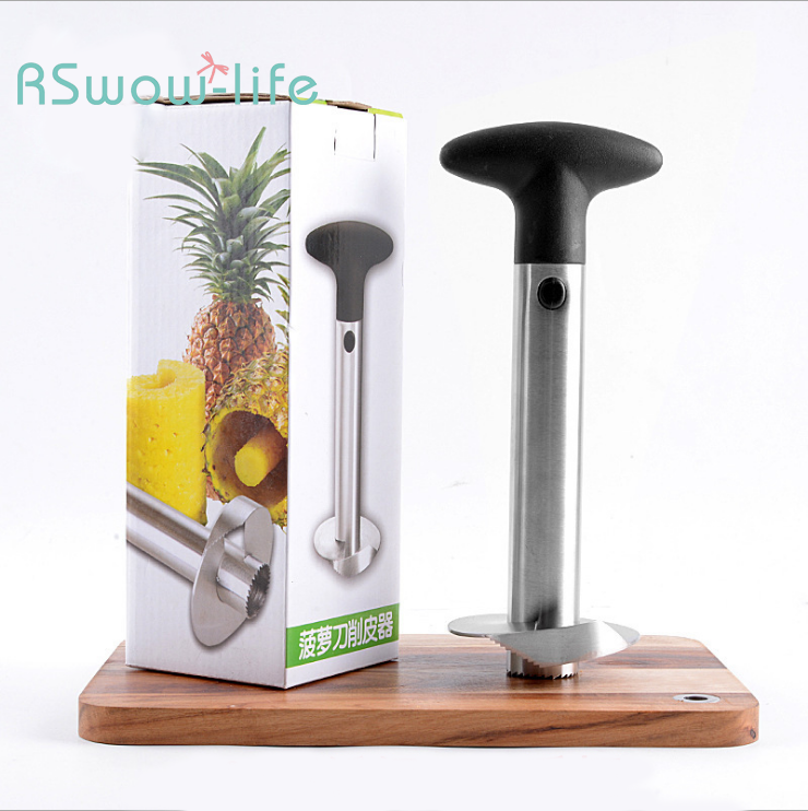 Thick Stainless Steel Pineapple Knife Pineapple Core Extraction Meat Peeler Household Kitchen Supplies in Pineapple Slicers from Home Garden