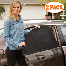 2 Pcs/Set Car Sun Visor Rear Side Window Shade Sided Auto Curtain Anti UV Drape Valance Privacy Protect Door Screens