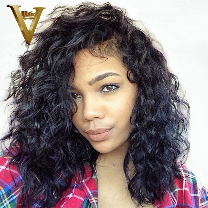 Short Brazilian Lace Front Human Hair Wigs For Women With Baby Hair Remy Natural Wave Bob