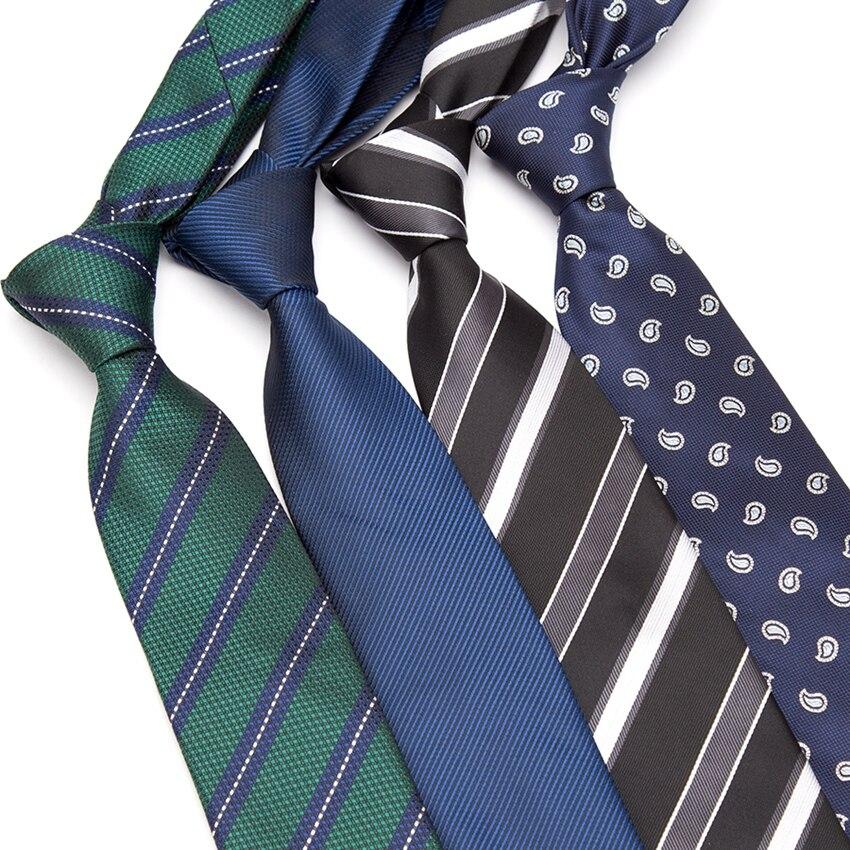 Xgvokh Mens Ties Striped Slim Tie Luxury Bowtie Wedding Business Paisley Corbatas Party Gravatas Neck Tie Men Fashion Neckties