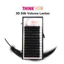 Russia 3D Individual Eyelashes Handmade Eyelash Extension Mink Eyelashes Synthetic Hair Silk Volume False Eyelashes