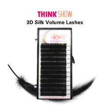 Russia 3D Individual Eyelashes Handmade Eyelash Extension Mink Synthetic Hair Silk Volume False
