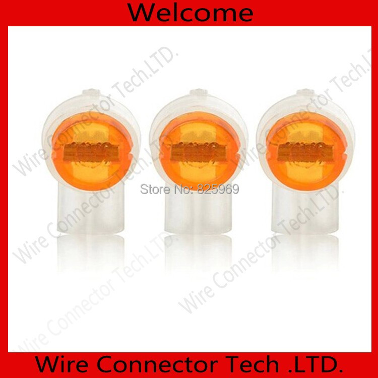 0.4-0.9mm,200pcs UY2 Wire Connector,K2 cable connector,UY2 cable terminal block for Telephone telecom Cable