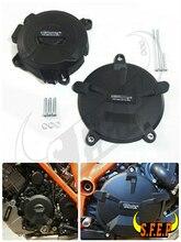 Двигатель мотоцикла случае Гвардии Protector Обложка GB Гонки Для KTM 1290 (R) SUPER DUKE 2014-2015-2016-2017-2018 черный
