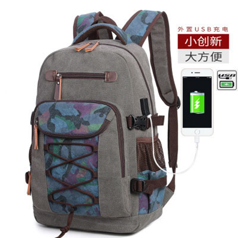 Usb new retro female casual backpack wash canvas male travel backpack computer bag laptop large capacity mens backpackUsb new retro female casual backpack wash canvas male travel backpack computer bag laptop large capacity mens backpack
