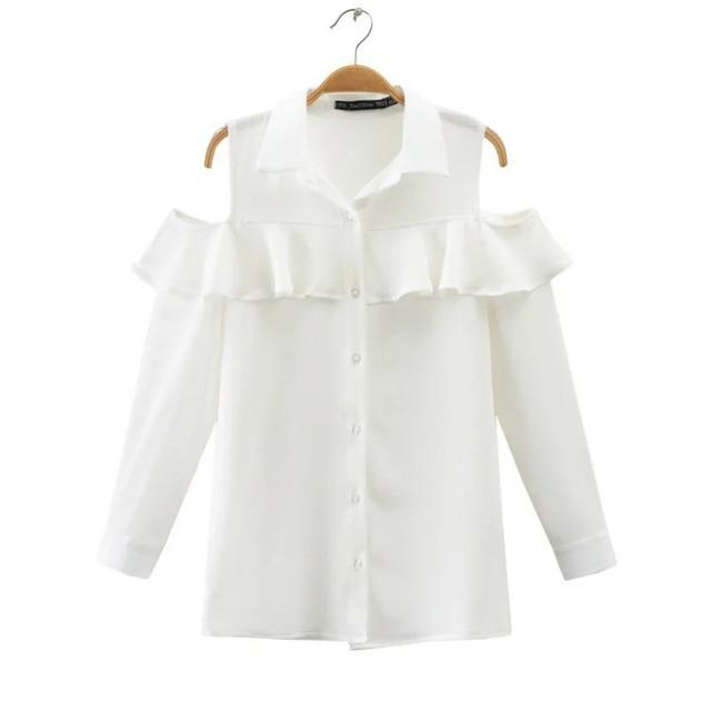 2017 primavera mulheres dobra branco rendas strapless camisa de manga longa
