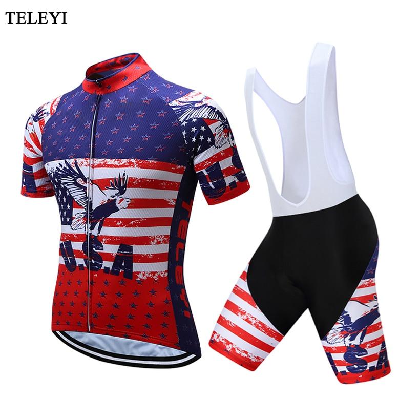 manga curta Da Bicicleta Da Bicicleta Camisas Curtas definidos