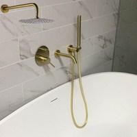 MTTUZK латунный матовый золотой смеситель для ванны с ручками горячий и холодный смеситель кран набор хромированный настенный смеситель для д