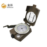 Outdoor multi function compass metal belt luminous