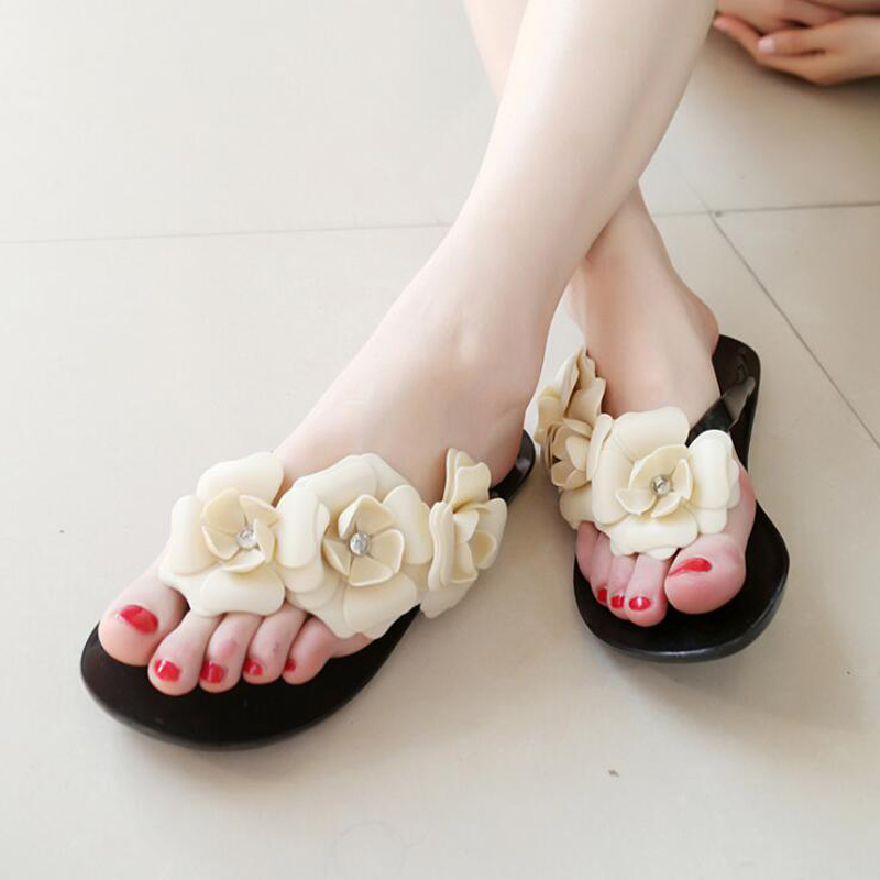 Women flip flops 2018 fashion flower beach slippers women sandals high quality summer beach shoes for women size 36-41 new pattern brand quality leisure women sandals slippers summer fashion shoes beach flip flops women footwear size 36 40 wa0182