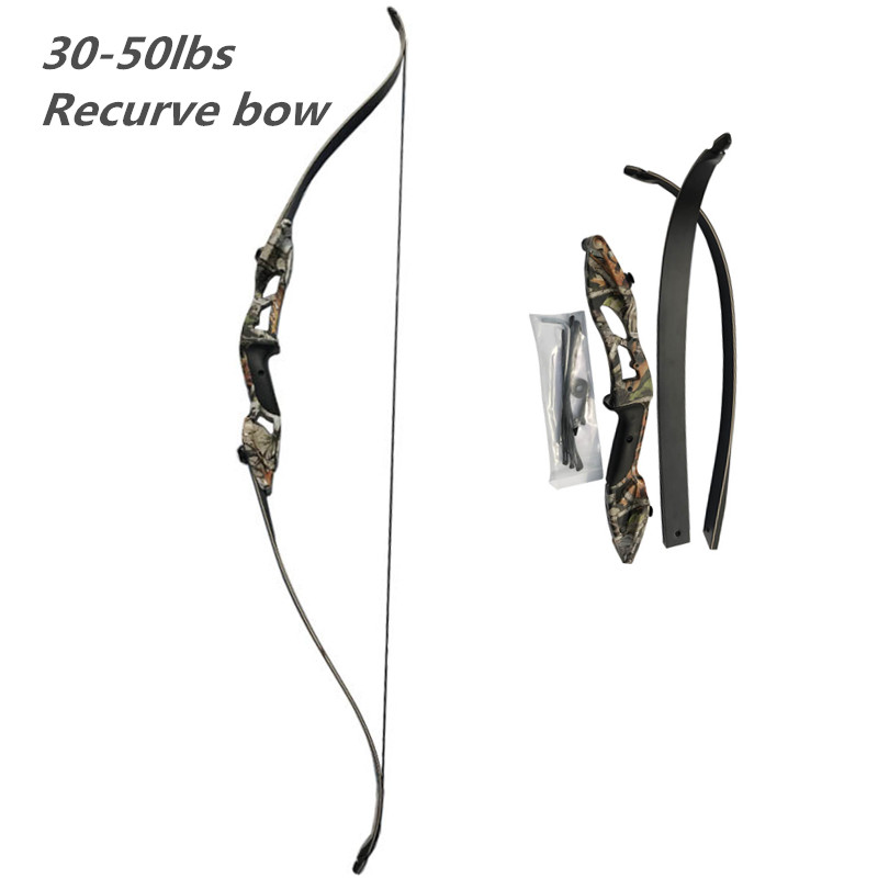 56 Camo Takedown Recurve Bow Archery Kit Bow Arrow Rest  Right Hand  # 30lbs / 35lbs / 40lbs / 45lbs / 50lbs раскладушка therm a rest therm a rest luxurylite mesh xl