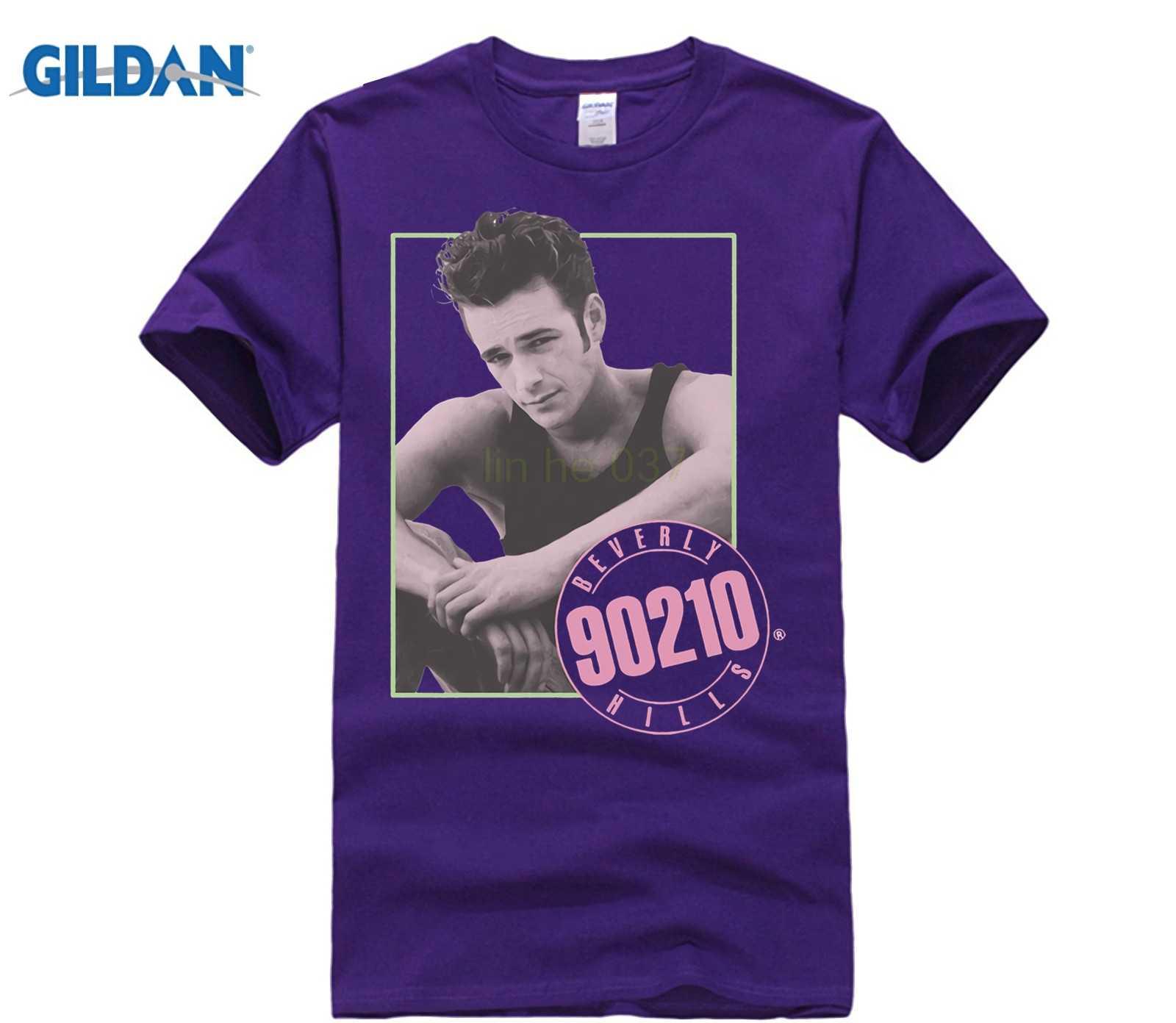 0f22273a0 ... Gildan Beverly Hills 90210 Tv Show Dylan Mckay Luke Perry Picture Adult  Men'S Crew Neck Short