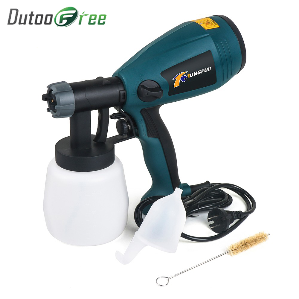 220V 500W Electric Spray Gun HVLP Paint Sprayer For Painting with Adjustable Flow Control and 3m