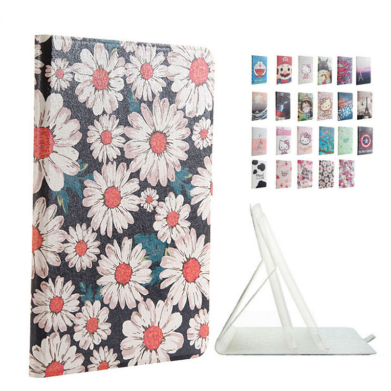 For iPad mini 2 3 TPU Leather Tablet Case Cover 7.9'' Protective Stand Color Print For Apple iPad mini2 Mini3 Fundas Smart Cases new tpu pvc protective back case cover for ipad mini grey