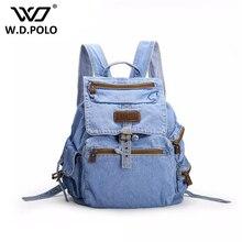 WDPOLO Gava Jeans leder Frauen Rucksack hohe qualität chic marke design dame straße einfache stoff schultaschen hot M2181