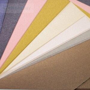 """Image 2 - 25 cái 180x125mm (7 """"x 4.8"""") màu sắc Ánh Kim Giấy Bao 250gsm Dày Cưới Kinh Doanh Lời Mời Bao Thư"""