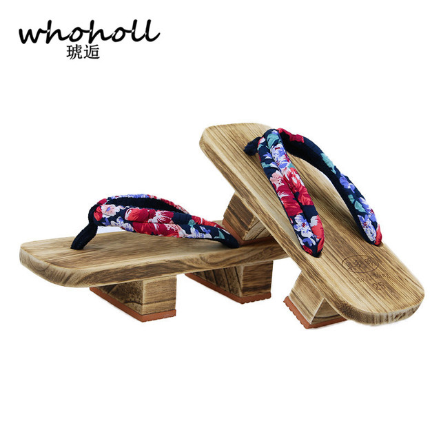 e17039e77a4b TAYUN Women Sandals 2017 summer unisex Japanese Gate flip flops Clogs  wooden platform double heel cosplay costumes GETA-226