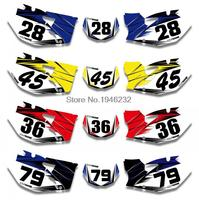 NICECNC Custom Number Plate Background Graphics Sticker & Decal For Yamaha WR250F WR450F 2007 2008 2009 2010 2011 WR 250F 450F